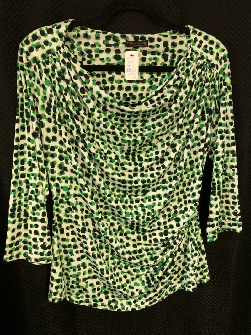BLOUSE GROEN WIT ROMEO AND JULIETTE SIZE L