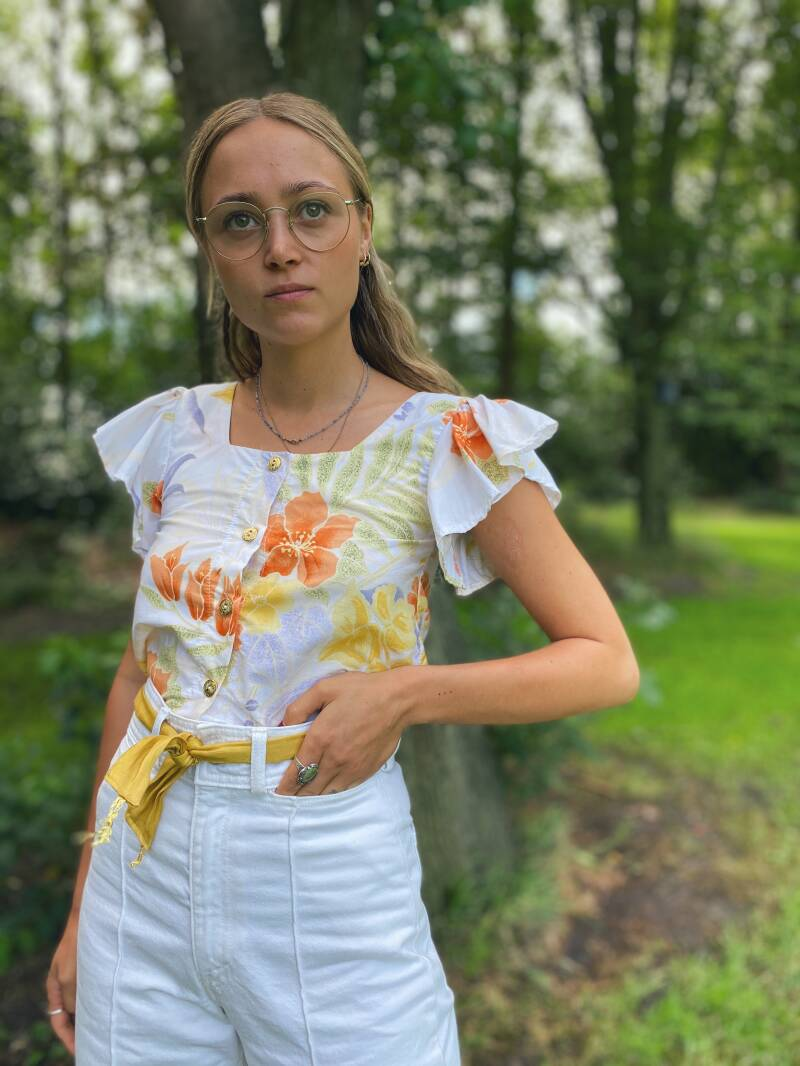 Upcycled vintage blouse