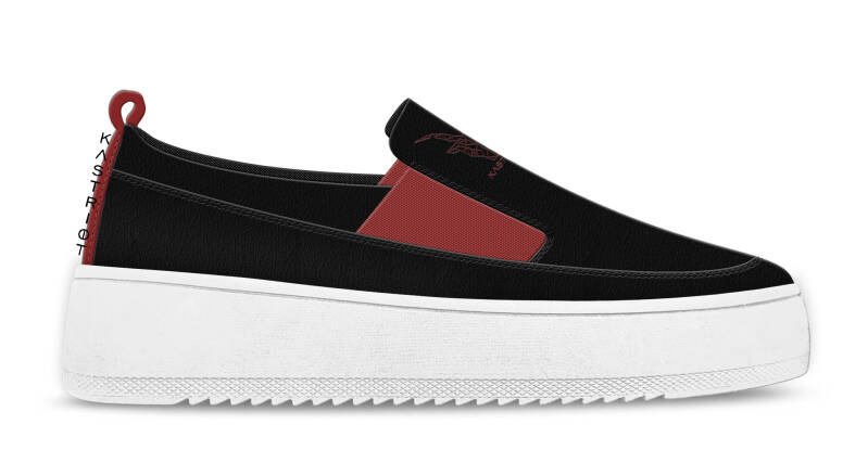 Sneakers - Black/Red -concept photo-