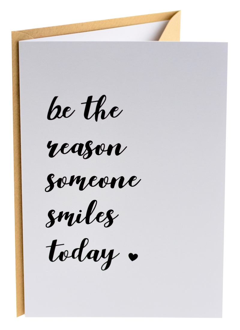 Connect wenskaart 16 - Be the reason someone