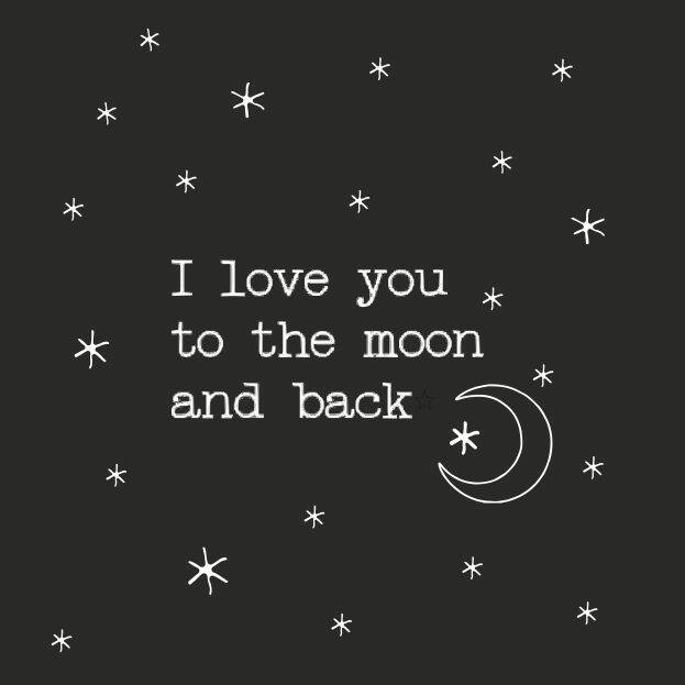 Together wenskaart 03  I love you to the moon