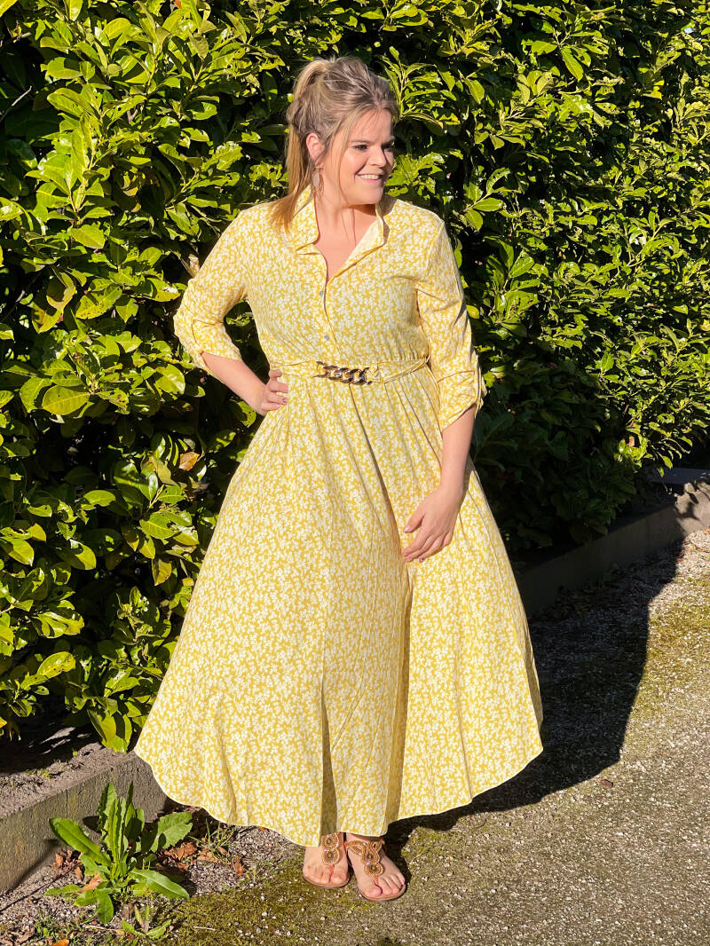 SW Maxi Dress Yellow Floral
