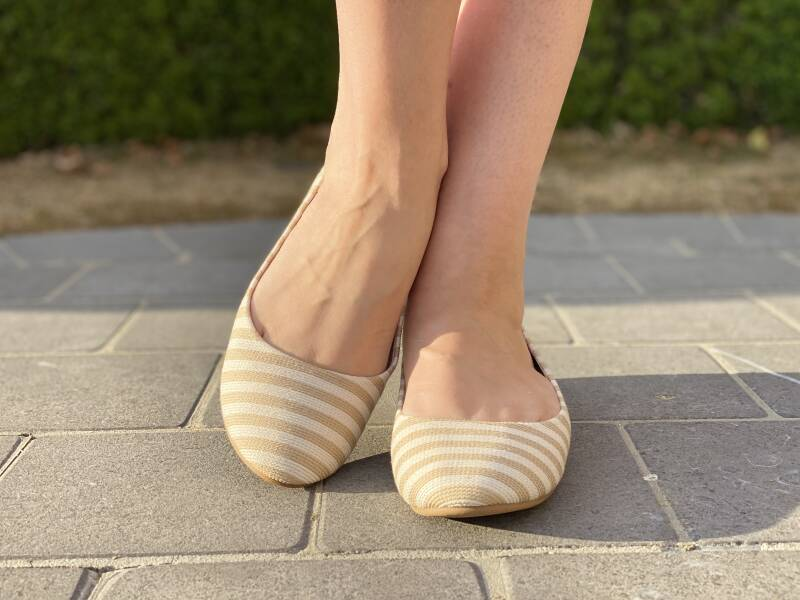 Striped Ballerina Beige