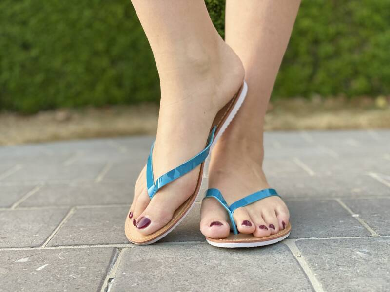 Teenslipper blue