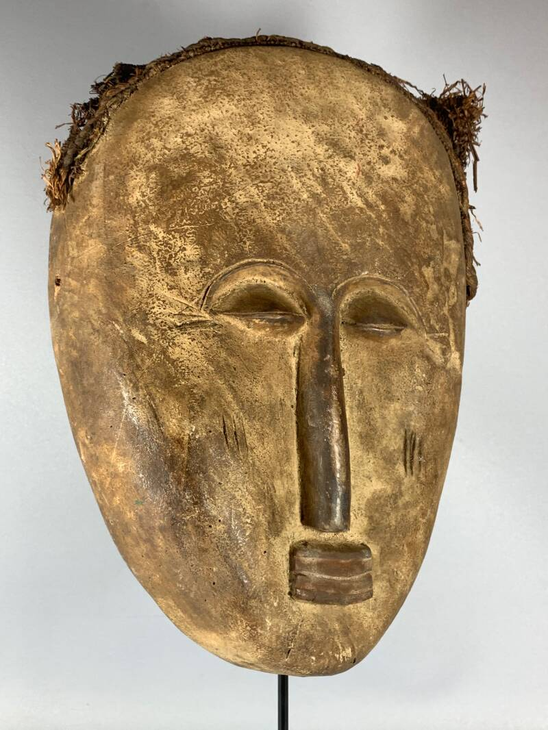200830 - Old Tribal used Rare African Ibibio mask - Nigeria.