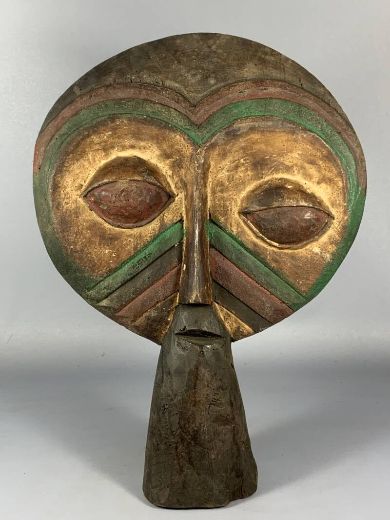 200831 - Old Tribal Used African Nature Spirit Bwa mask / statue - Burkina Faso.