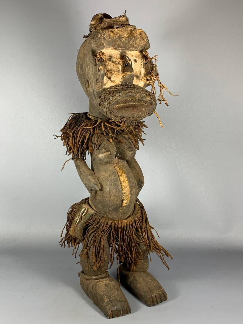 200838 - Old tribal used African We / Guere statue - Liberia