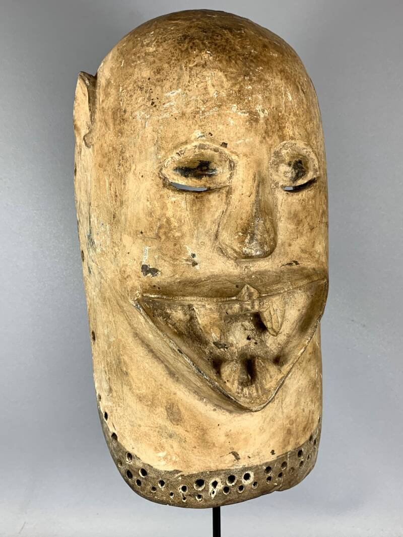 200846 - Extremly Rare old Tribal used African Yoruba EPA mask - Nigeria.