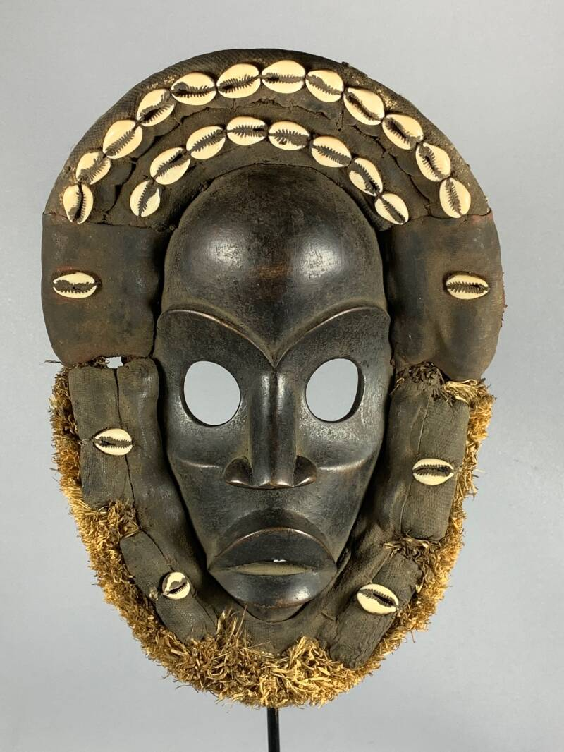 200858 - Old Tribal Used African Dean Gle Mask from the Dan People - Liberia.