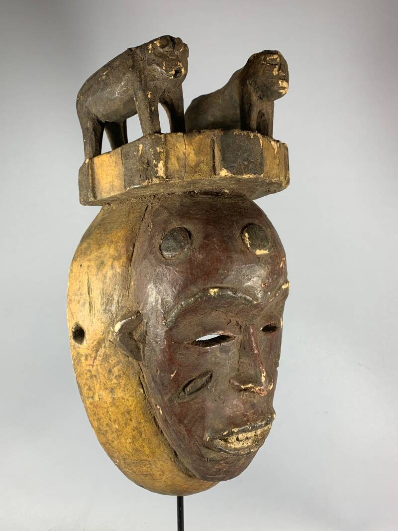 200930 - Old Tribal Used African IGBO Mask - Nigeria.