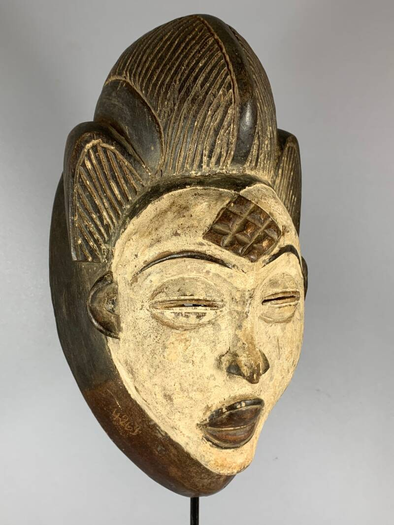 200948 - Tribal used African female mask from the Punu - Gabon.