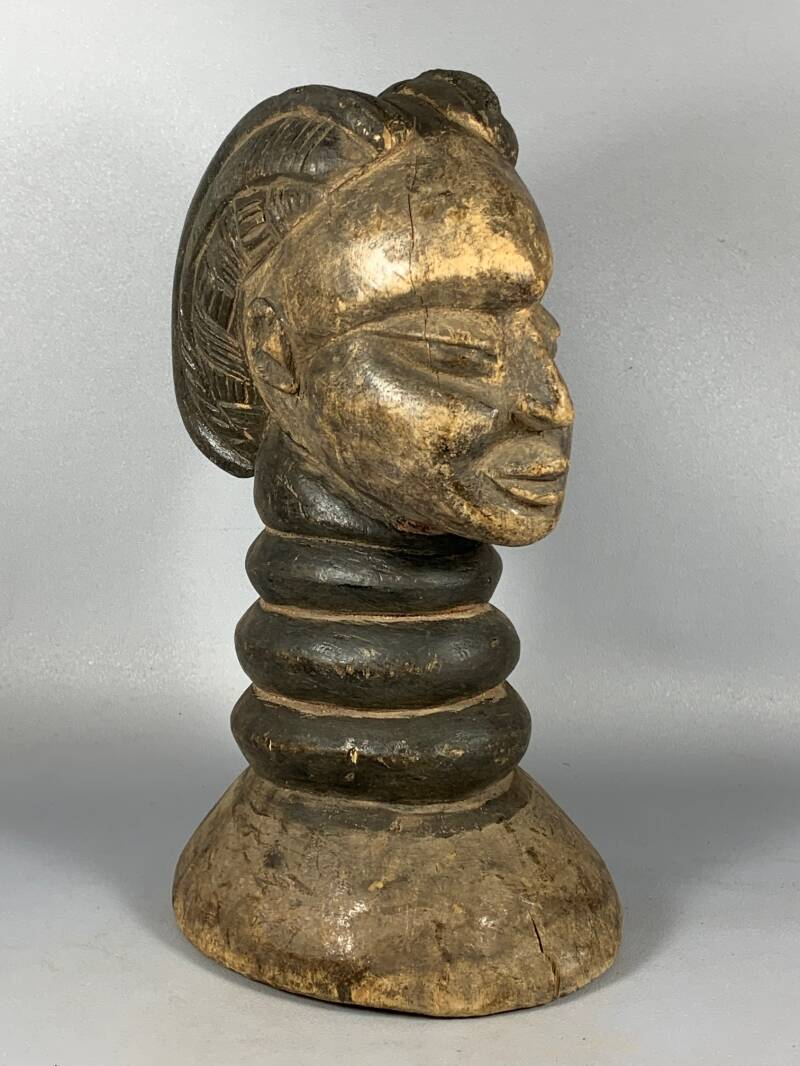 200951 - Old & Rare African Tribal used Nalu Baga head statue - Guinea.