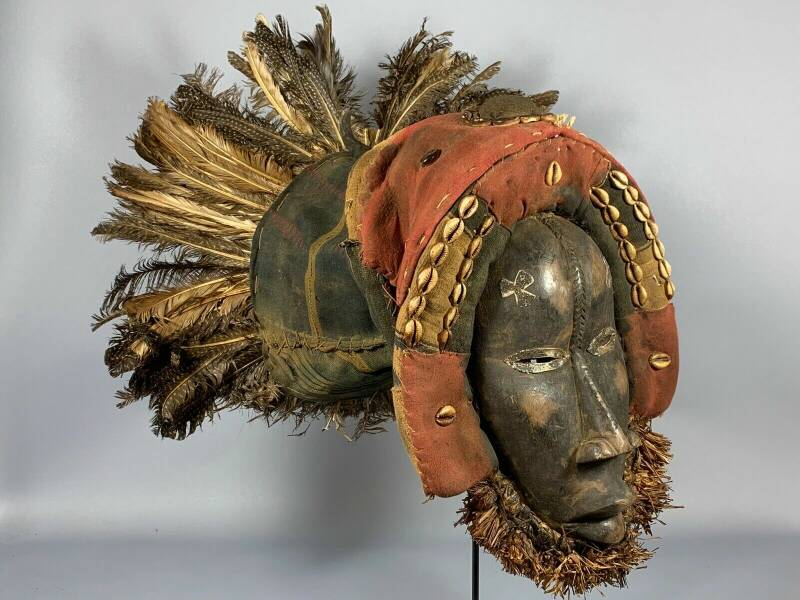 181038 - Old Tribal Used African Mask from the Dan Guere - Liberia.