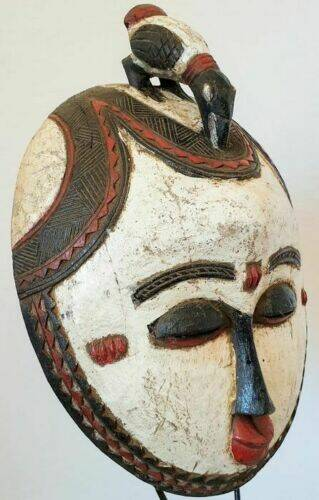 191002 - Tribal used African mask from the Luba - Congo.