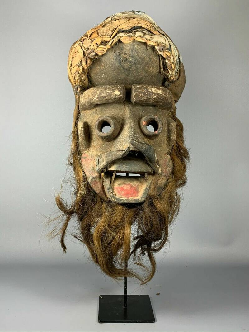 191022 - Old tribal used African We Guere mask - Iv. Coast.