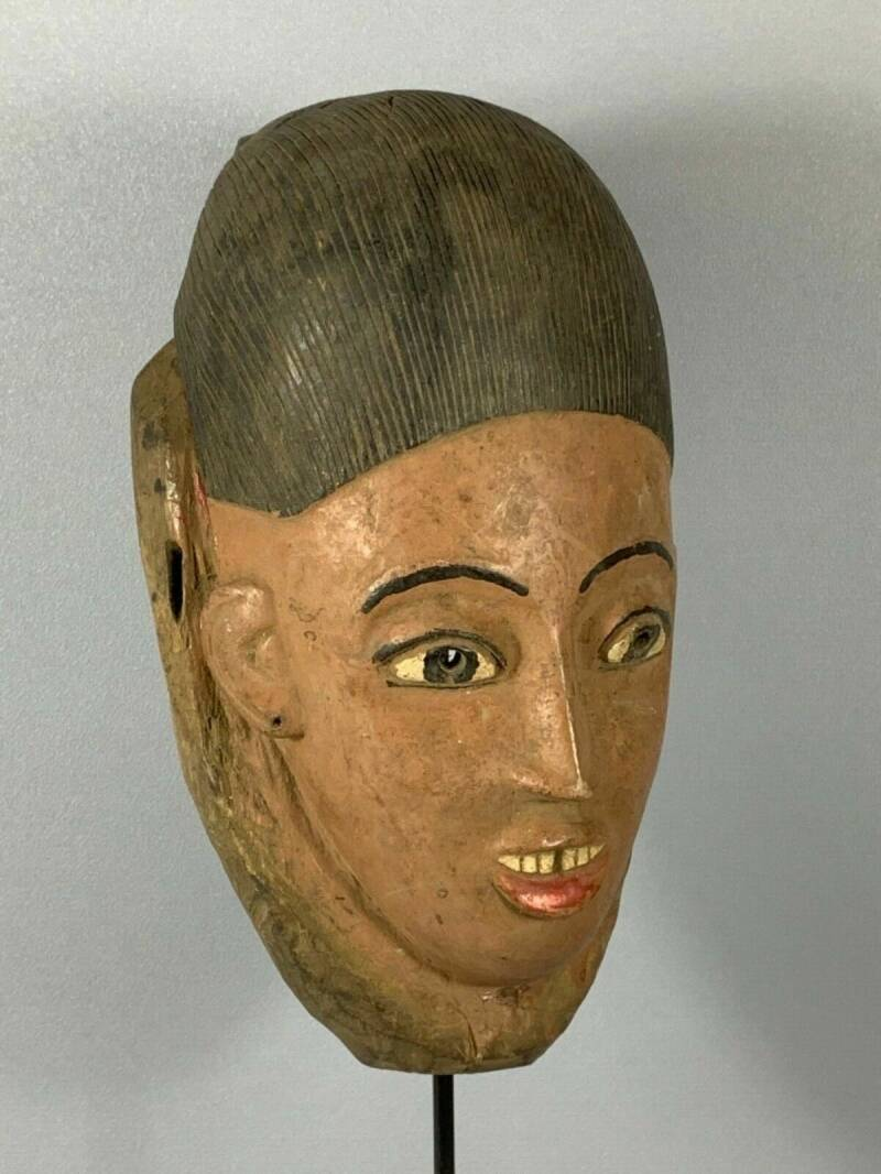 181220 - Old extremly Rare African Tribal used Baga Nimba mask - Guinea.