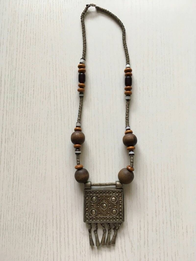 180736 - African Ethiopian Tribal used Traditional Amhara necklace - Ethiopia.