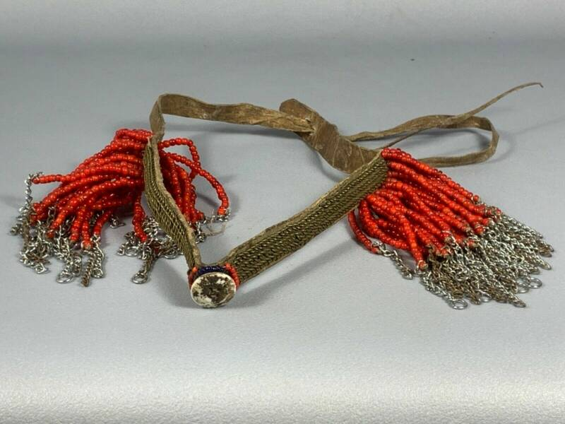 190801 - Tribal used Old African Ethiopian Arussi Beaded Ornament - Ethiopia.
