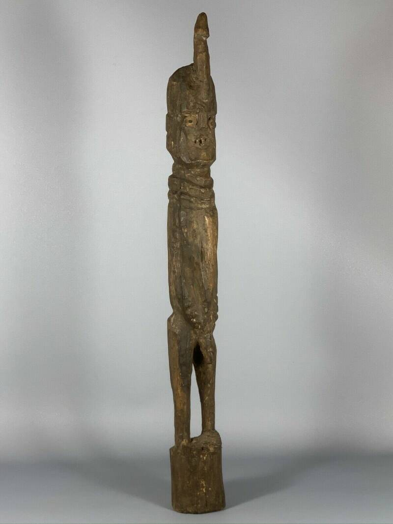 190711 - Old and Rare Tribal Used African Konso Waka Grave figure - Ethiopia.