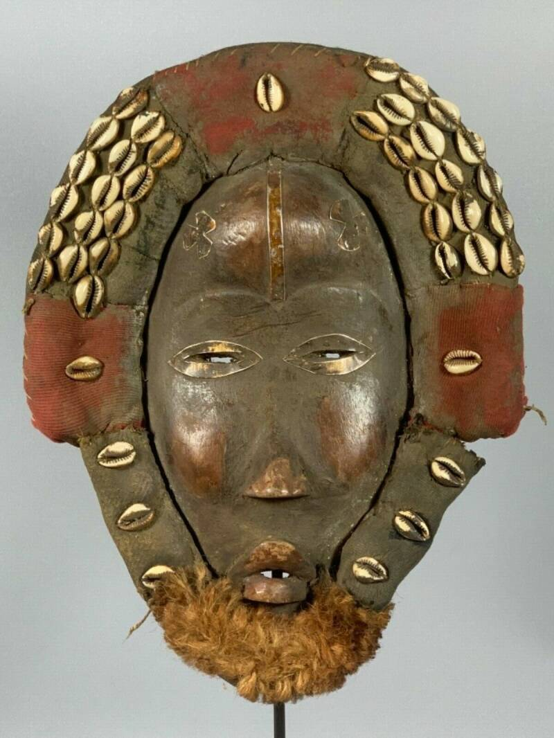180416 - Old Tribal Used African Dean Gle Mask from the Dan People - Liberia.