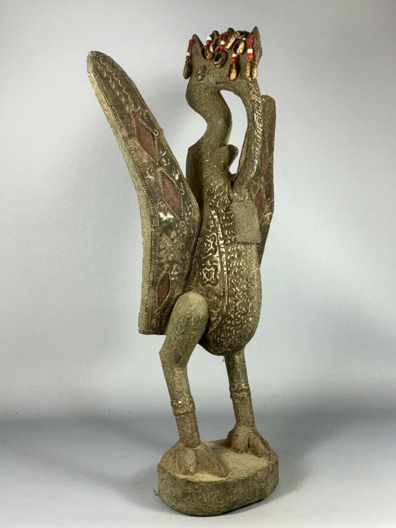 200452 - old and rare Tribal Used African Senufo bird - Burkina Faso.