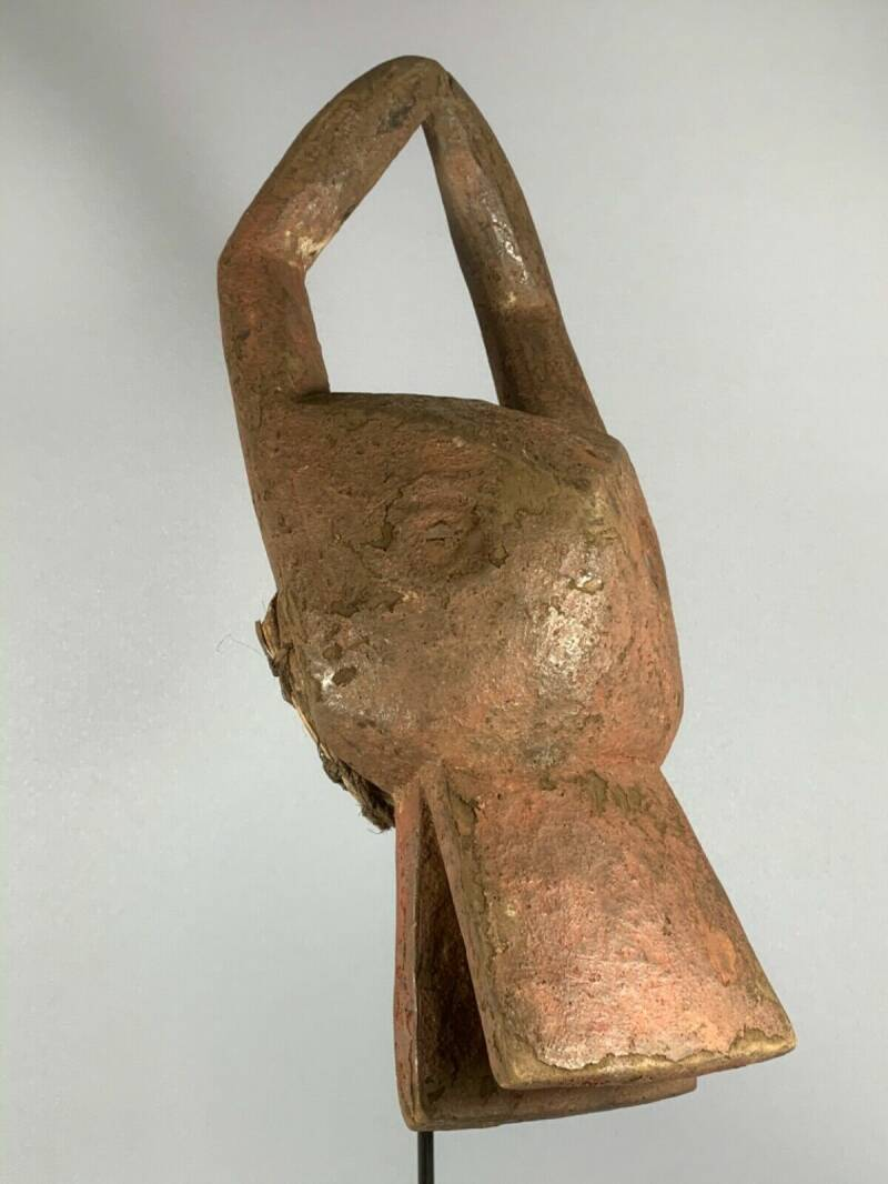 200430 - Rare & Old Tribal used African headdress Mambila mask - Cameroon.