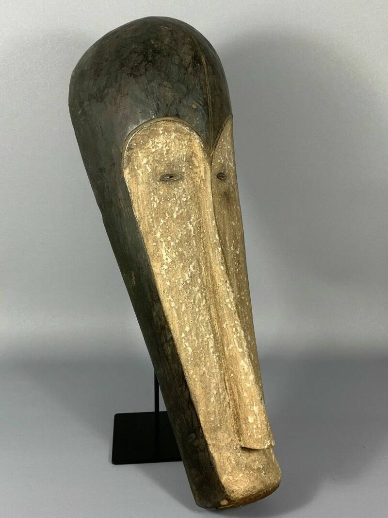 190305 - Large Old & Tribal used African Mask from the Fang - Gabon.
