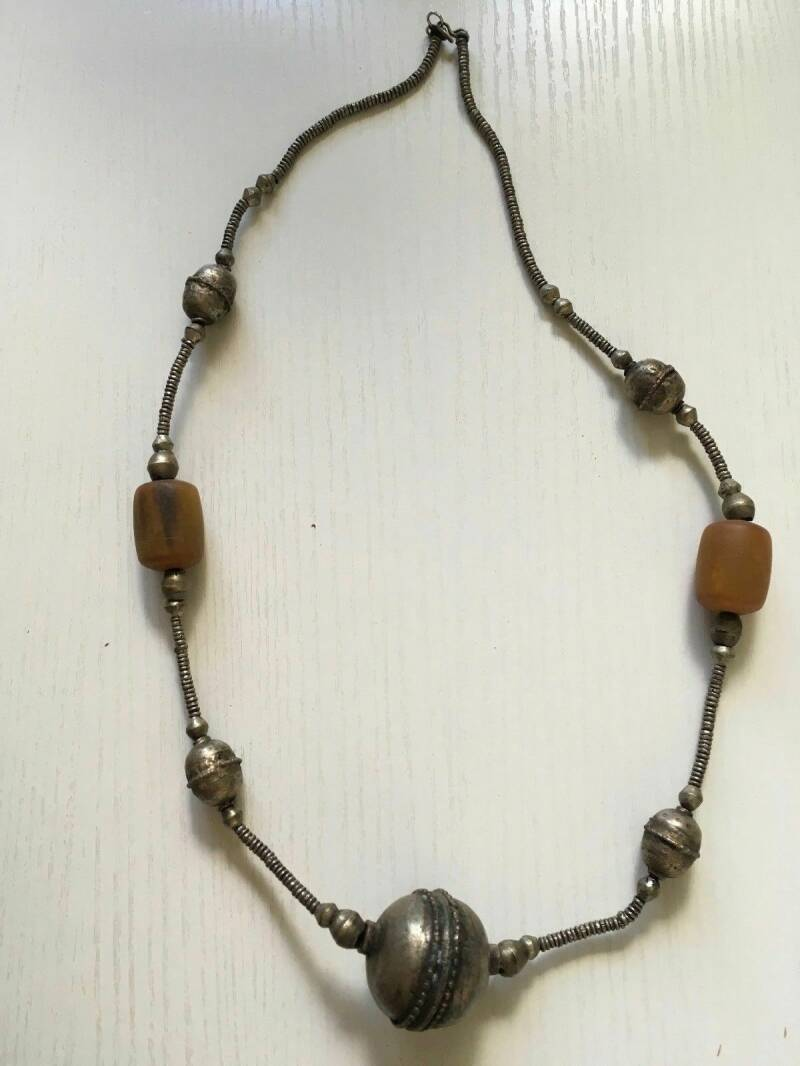 180657 - African Ethiopian Tribal used Traditional Harar necklace - Ethiopia.