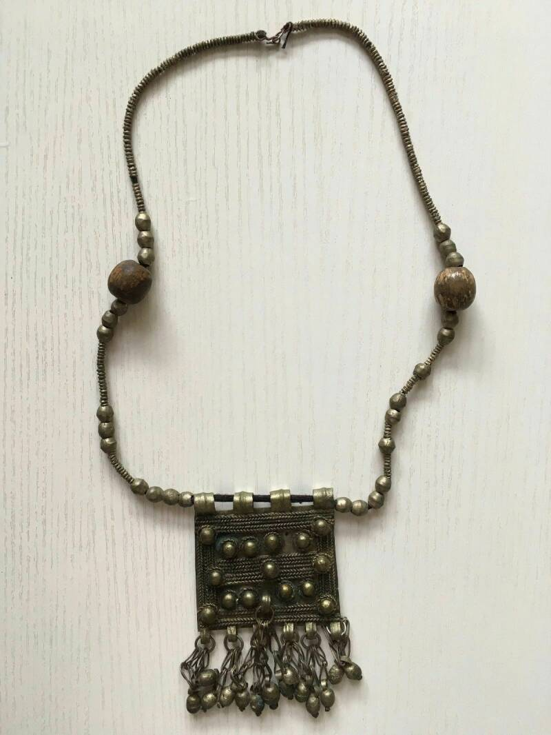 180720 - African Ethiopian Tribal used Traditional Amhara necklace - Ethiopia.