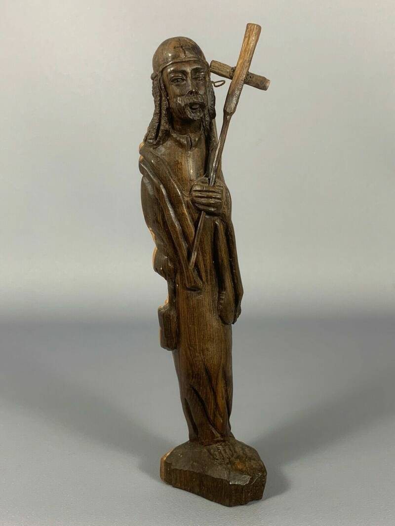 190454 - Old Ethiopian Orthodox Coptic Priest Ebony Wood Hand carving - Ethiopia