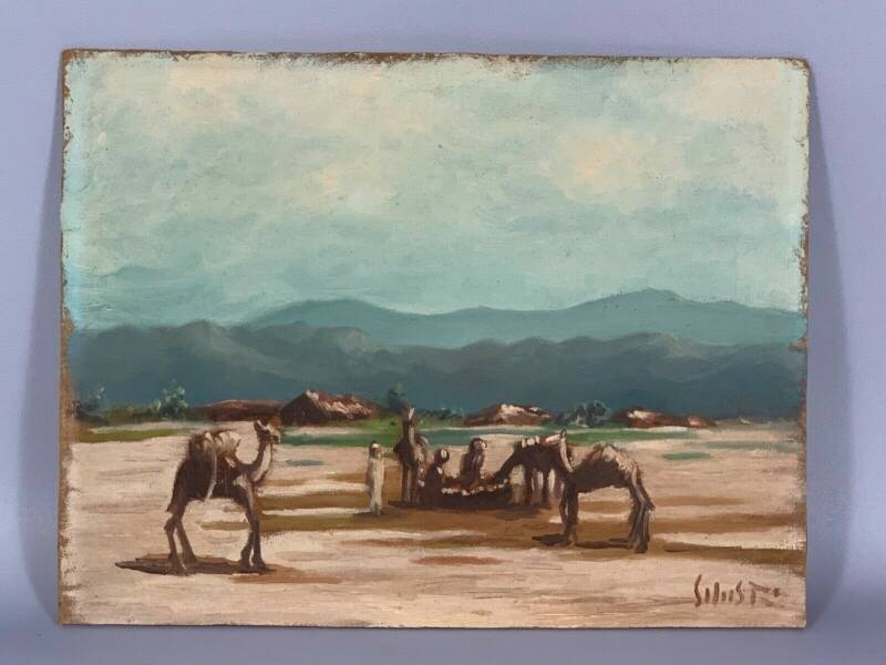 190611 - Ethiopian African Painting from Afar nomads with camels - Ethiopia.