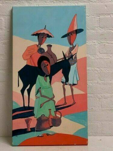 190605 - Ethiopian African Traditional Painting from the Addis - Ethiopia.