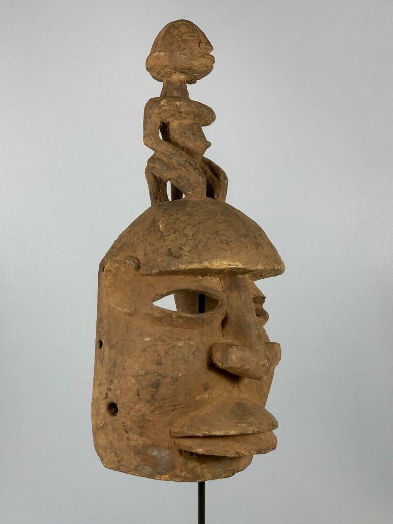 180848 - Very Old Tribal Used African Dogon Mask - Mali