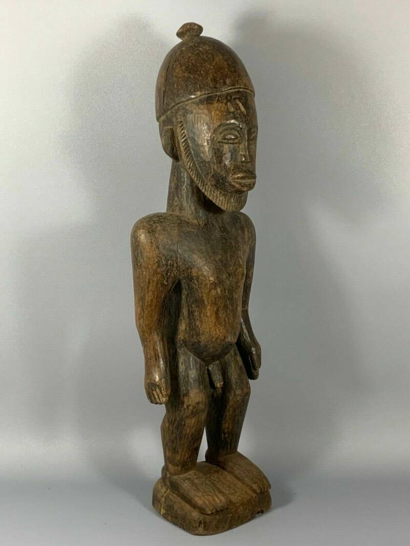 180616 - Large Old Tribal used African Dogon figure - 70 cm - Mali.
