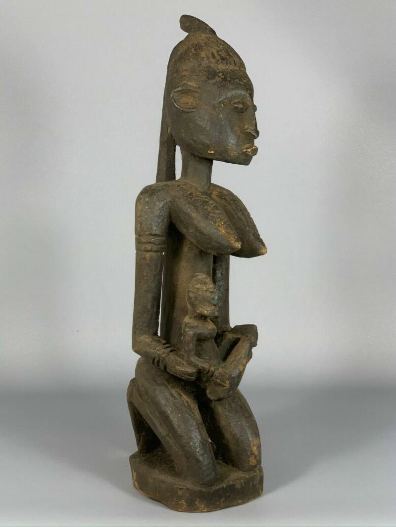 180704 - Tribal used Old African Dogon statue - Mali.
