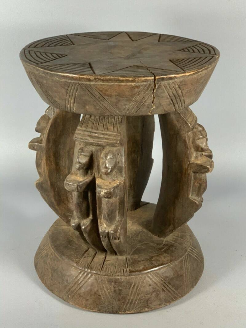 200519 - Old & Tribal used African Dogon stool - Mali.