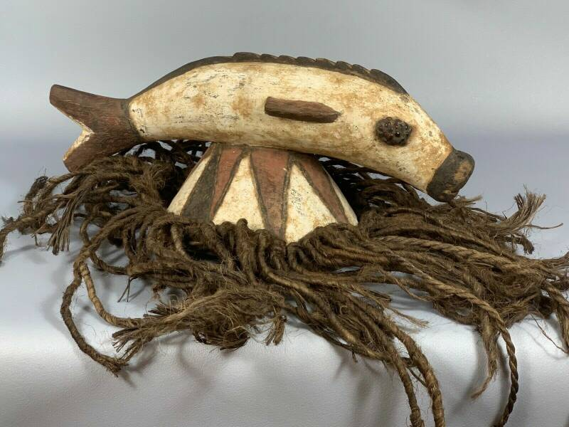 190435 - Tribal Used African Mossi helm mask - Burkina Faso.