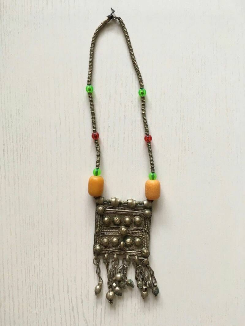 180730 - African Ethiopian Tribal used Traditional Amhara necklace - Ethiopia.