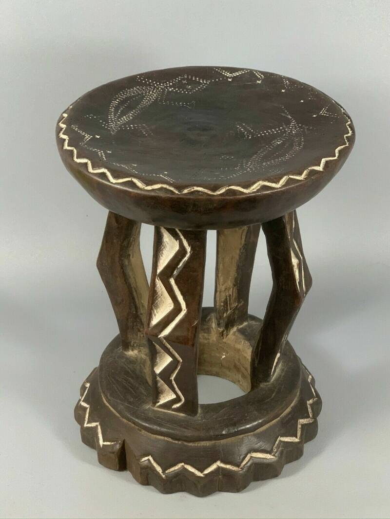 200342 - Tribal used African Bamun Stool - Cameroon.