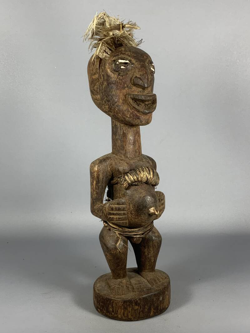 200542 - Tribal used Old African Dogon statue - Mali.