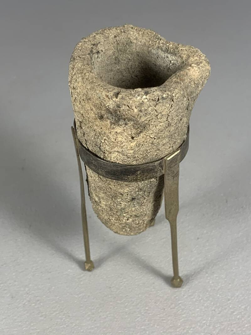 200545 - Aksumite Kingdom - Gold smelt cup from the 4th-9th century - Ethiopia.