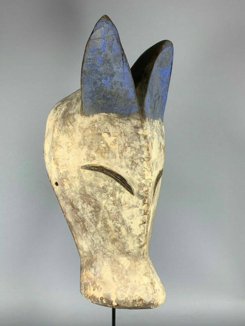 200224 - Tribal used African Mask from the Kwele - Gabon.