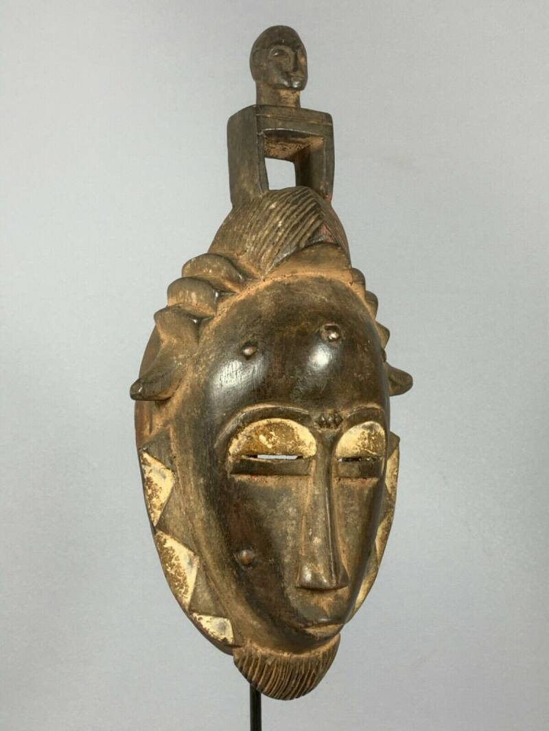 200445 - African Rare & Old Tribal Used Baule mask - Iv. Coast.