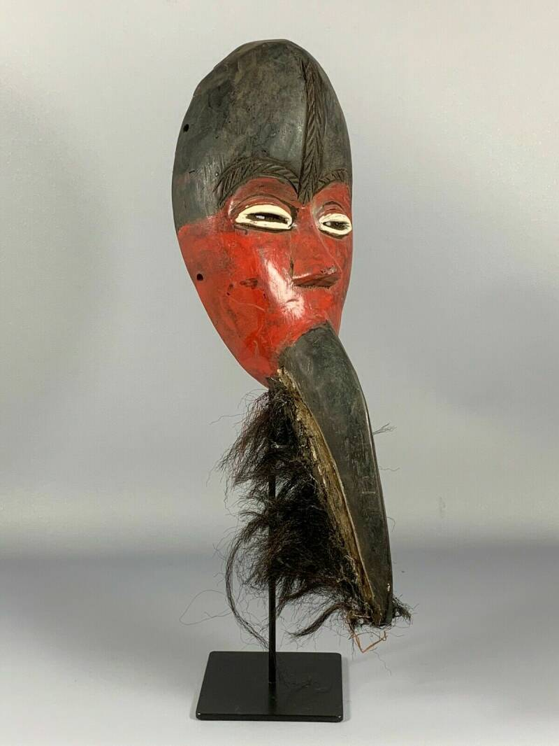 180825 - Old Tribal Used African Mask from the Dan Nguerre - Liberia.