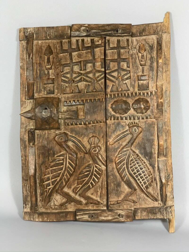 190923 - Old & Tribal used African Dogon Door - Mali.