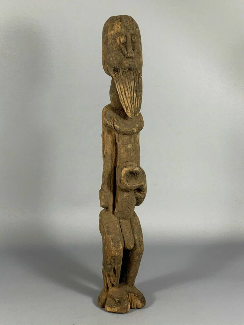 180321 - Old Tribal used African Dogon Figure - Mali.