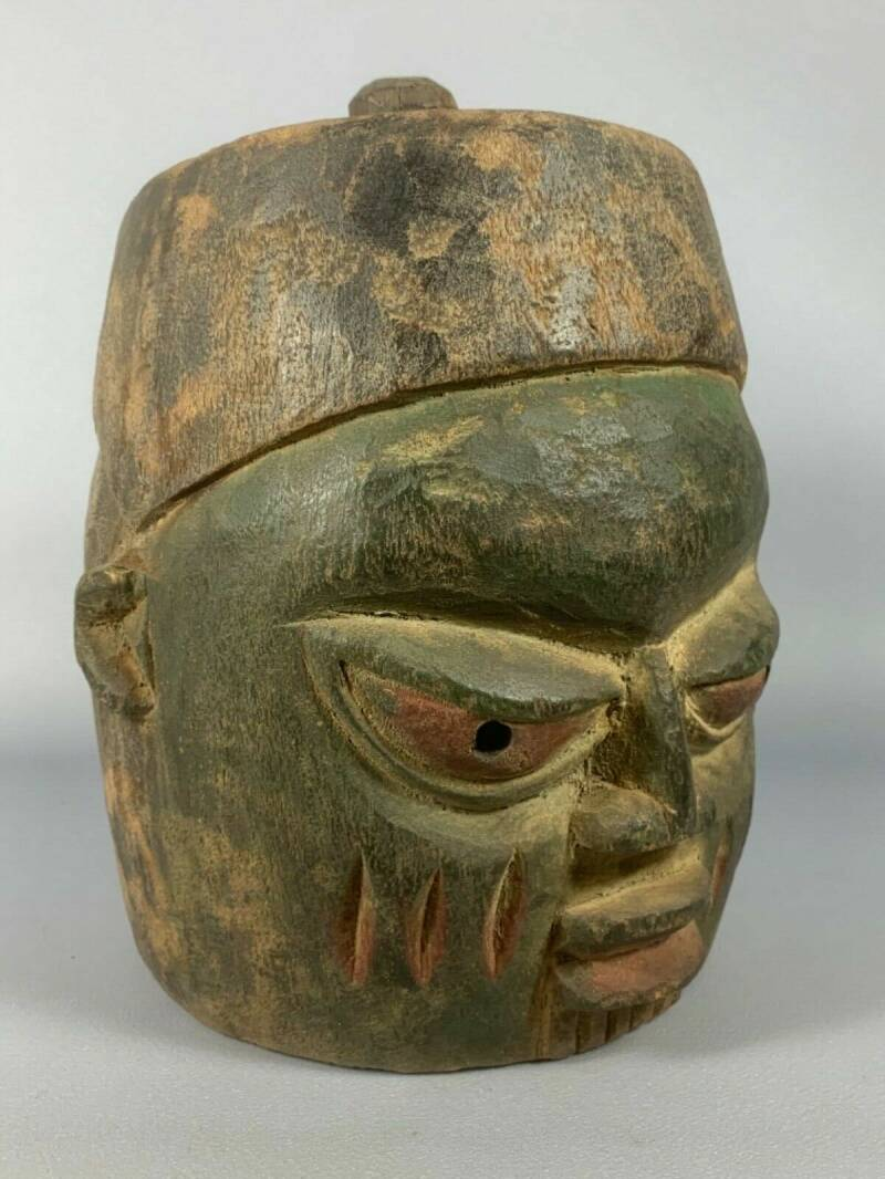 200331 - Tribal used Old Yoruba Head mask - Nigeria.