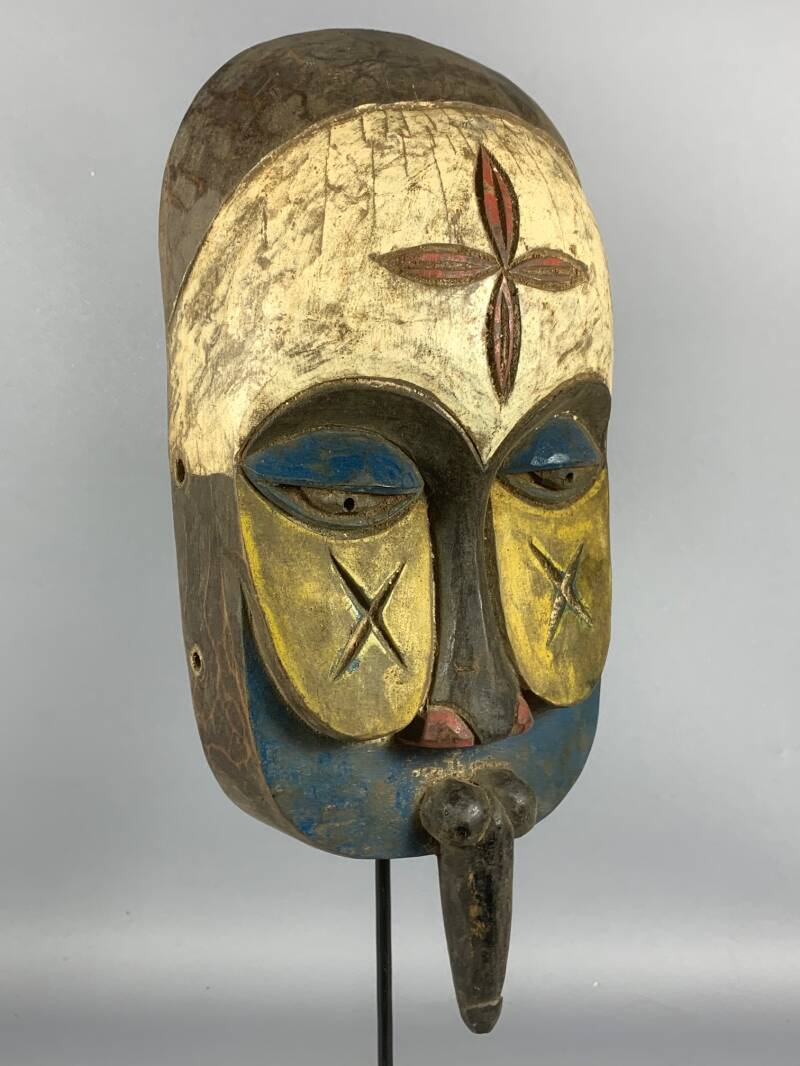 200620 - Tribal used African Bamun mask - Cameroon.