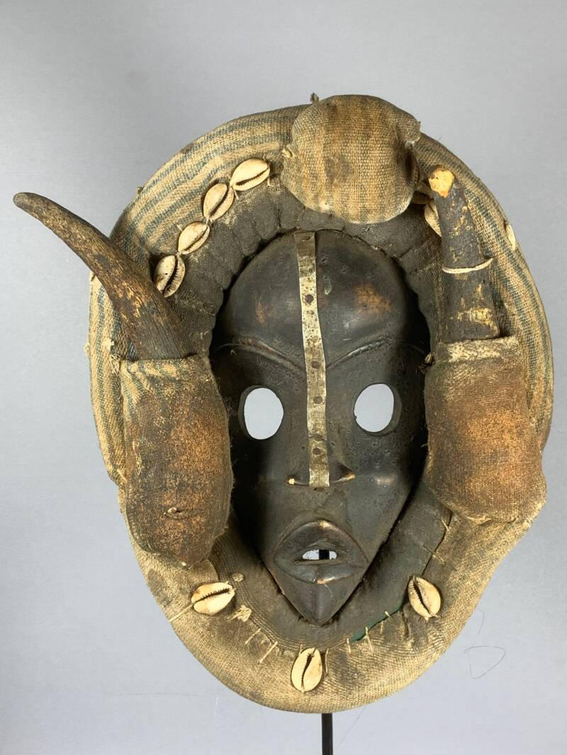 200631 - Old Tribal Used African Dean Gle Mask from the Dan People - Liberia.