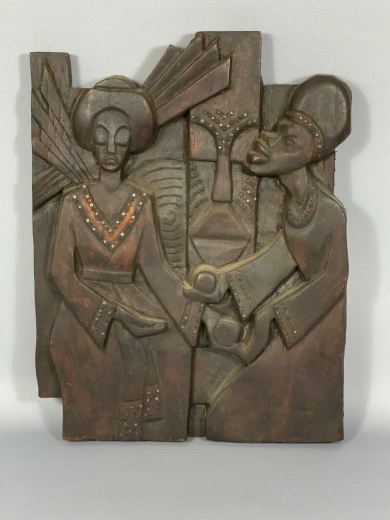 Details over   190827 - Rare African Ethiopian Art Sculpture from Addis Ababa - Ethiopia.
